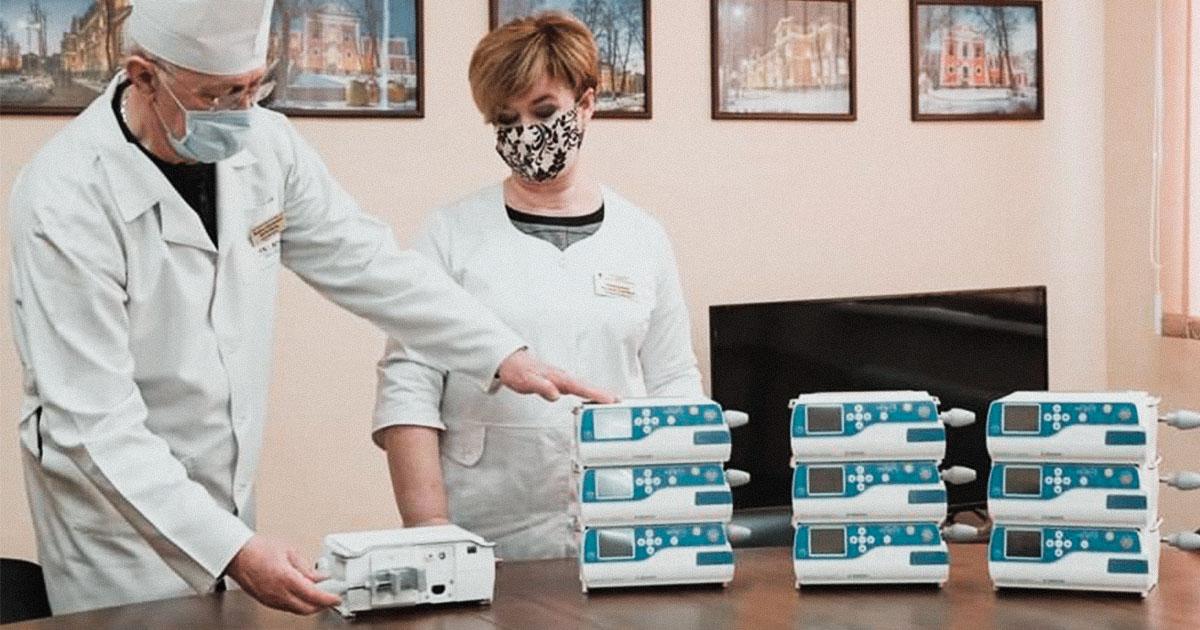 The NGO Techiia Foundation donated 10 infusion pumps to Kropyvnytskyi Children's Hospital
